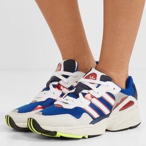 adidas Originals Grey & Blue Yung 96 Sneakers